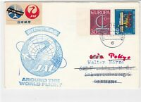 Germany 1967 Europa JAL Around the World Flight Bird World Stamps Cover ref22810