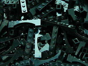 LEGO ARCH 1x6 x20 pieces # BLACK # bridge window wall castle +