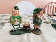 ST Patrick's Day Figurines-Home Goods- Pre-owned.  Excellent Condition.