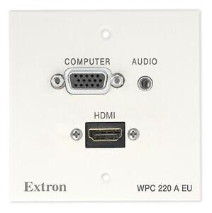 Extron WPC 220 A EU NEW weiß wall panel Wandanschlussfeld HDMI VGA Audio
