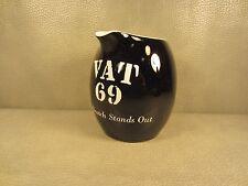 Vintage Vat 69 Scotch Whiskey Ceramic Pitcher Jug