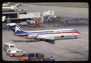 Texas International Douglas DC-9-32 N521TX Kodachrome Aircraft Slide/Dia