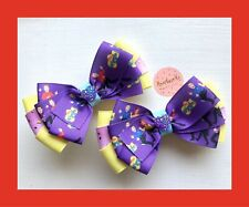 Baby / Girls / Toddlers Handmade Emma / The Wiggles / Matching Hair Bow Clips