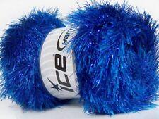 Blue Eyelash Dazzle #42262 Ice Blue Metallic Eyelash Yarn 100 Gram 153 Yards