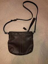 Coach Legacy Soho Mahogany Brown Leather Crossbody Purse Bag Tassel Small