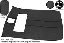 BLACK STITCH SUN ROOF HEADLINING DARK GREY LUXE COVER FOR VW GOLF MK4 5 DOOR