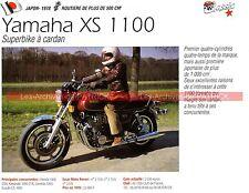 YAMAHA XS 1100 Jean Claude Olivier en wheeling 1978 Fiche Moto 000260