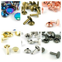 DOUBLE CAP RIVETS SMALL -Emmaline Bags - range of finishes - for bags & crafts