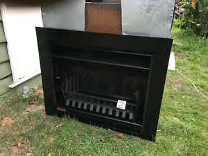 Jetmaster open firplace heater wood flue logpan grate (gas option)