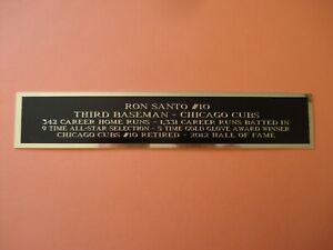 Ron Santo Cubs Autograph Nameplate For A Baseball Jersey Case Or Photo 1.25 X 6