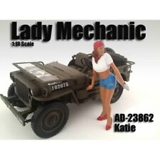 "1:24 Scale American Diorama (7.5 cm) Figure - ""Lady Mechanic Katie"" # AD-23962"