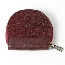 PKK GENUINE STINGRAY Leather Women Coin Purse Wallet R033 Burgundy RED