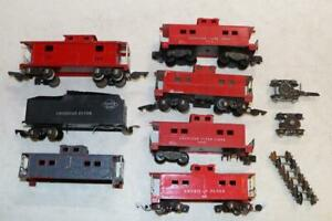 American Flyer Caboose & Tender Parts Lot