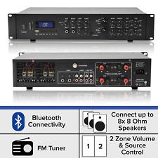 800W Stereo Bluetooth Power Amplifier - 4x200W Multi-Zone HiFi Mixer