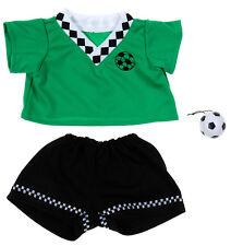 "TEDDY BEAR GREEN SOCCER Uniform CLOTHES Fit 14""-18"" Build-a-bear !!NEW!!"