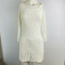 Abercrombie & Fitch Ladies Cream Lace Dress Long Sleeve Size M