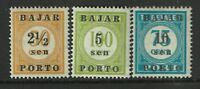 Indonesia SC# J60 - J62 Mint Never Hinged / #60 Minor Ink Rem - S1552