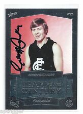 2014 Carlton 150 Years Team of the Century Geoff SOUTHBY Carlton Hand Signed