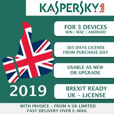 Kaspersky Internet Security 2019 Reino Unido 3 PC, 3 dispositivos, múltiples dispositivos clave ESD]