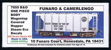 LMH Funaro F&C 7050 B&O BALTIMORE OHIO Wagontop Covered Hopper Small Letters Kit