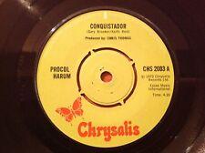 PROCOL HARUM - 1972 Vinyl 45rpm Single - CONQUISTADOR