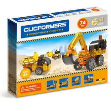 Genuine Clicformers Construction 74 Set pcs set - 3D Building Construction Toys