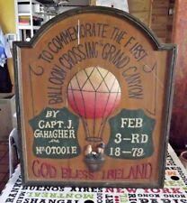 Ancien Grand Panneau Bois Publicitaire Bar Pub God Bless Ireland Ballon Crossing