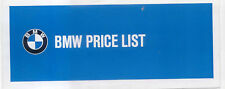 Original UK  Price  List  BMW 1967 1600 1800 2000 Coupe Auto CS/C
