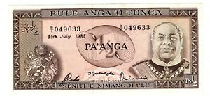 TONGA Billet 1/2 0.5  PA'ANGA  1983 P18 ROI  NEUF UNC