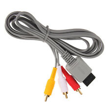 6ft AV 3 RCA Audio Video Composite Cable Cord For Nintendo Wii U Game Pad