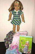 American Girl doll Lanie, in Meet Outfit Book & Extras. Green Eyes