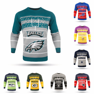 NFL Football Mens 2017 Stadium Light Up Sweater - Pick Team