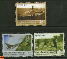 India 2015 1965 India Pakistan War Navy Air Force Ship 3v MNH