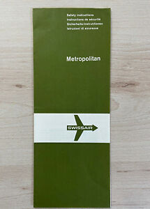 old Safety Card Swissair Metropolitan
