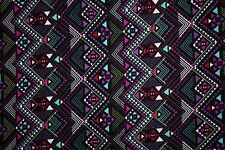 Multicolor Ethnic Geo Jersey Knit Print #118 Cotton Spandex Lycra Fabric BTY