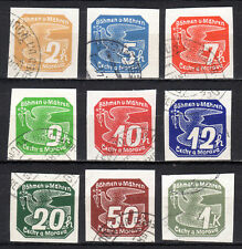 Germany / Bohmen und Mahren - 1939 Newspaper stamps / Dove Mi. 42-50 VFU
