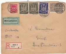 GERMANY 1923 REGISTERED COVER.Rfno.E319.