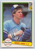 1982  Donruss DANNY AINGE Baseball Card # 638 - Toronto Blue Jays