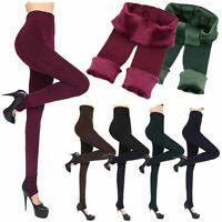 pies De espesor Caliente Thermal Pantalon elastico Calcetería Leotardos de lana