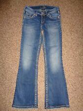 """Silver """"Suki"""" Women's Bootcut Jeans, Sz 26x32 (Actual 26x29), Thick Stitch 10395"""