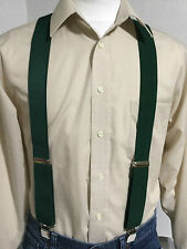 "New, Men's, Kelly Green (John Deere green) XL,1.5"" Suspenders/Braces, Made n USA"