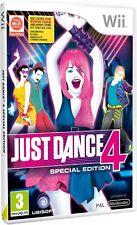 Just Dance 4 Special Edition Nintendo WII Video Game Original UK Release