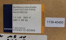 Siemens schützwendeschalter CONTACTOR Type reversers 3td4210-oc 7,5kw 380v 220v