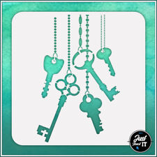 Hanging Keys #1 - durable and reusable stencil for DIY painting & crafts