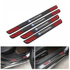 4PCS Red Rubber Car Door Scuff Sill Cover Panel Step Protector For Volkswagen