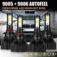 AUTO 9006 HB4 9005 HB3 Combo Total 2000W 300000LM LED Headlight Kit Bulbs 6500K
