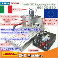 【IT】3 Axis 6040Z-S80 Mach3 CNC Router 1500W Engraving Milling Machine 1.5KW 220V