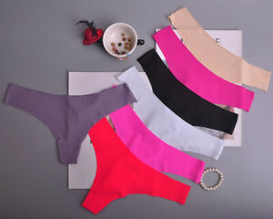 Women Ladies G-string Briefs Panties Seamless Thongs Lingerie Underwear Knickers