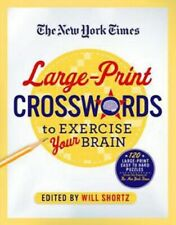 The New York Times Large-Print Easy to Hard Crossword Puzzle Book Will Shortz