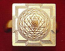 Re-Buy Meru 3D yantra (Sriyantra) ring in Brass for prosperity ~Fully Adjustable